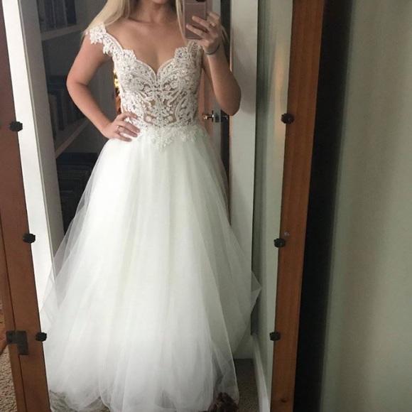 Enzoani Dresses Nwt Enzoani Kitara Offshoulder Tulle Wedding Gown Poshmark